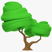 3D stylized tree model