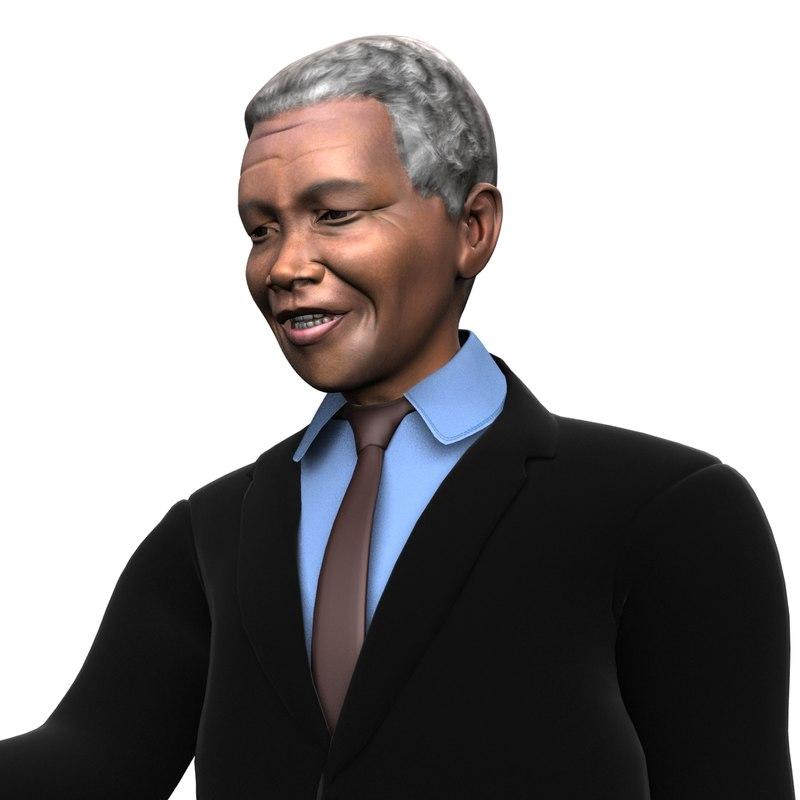 3D great leader mandela model