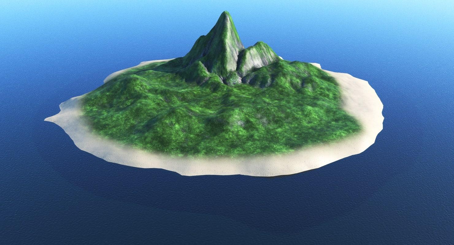 3D island ocean