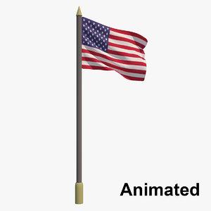 3D flag - animation model