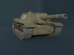 ready su-152 anti-tank self-propelled model
