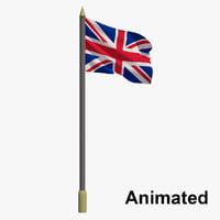 flag united kingdom - 3D model