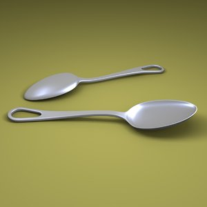 3D model teaspoon spoon