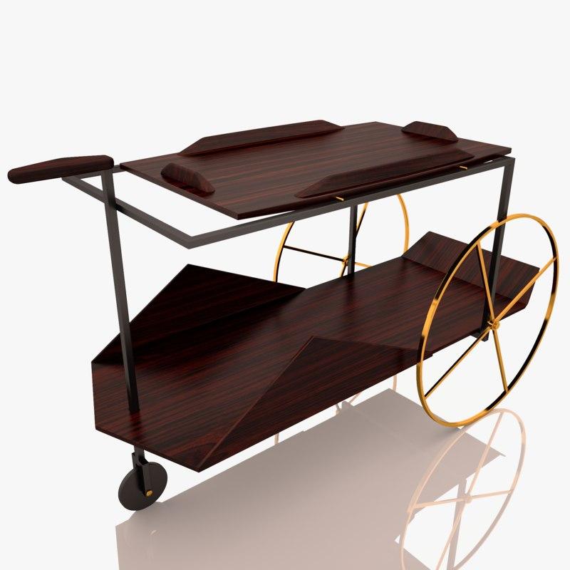 tea trolley jz 3D model