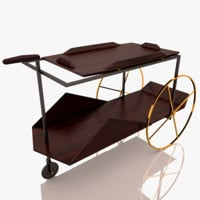 tea trolley jz 3D model