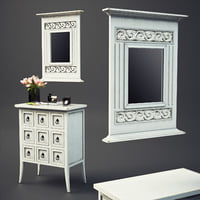 3D cubby mirror model