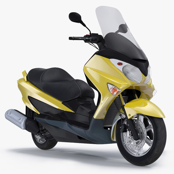 generic scooter motorcycle 3D model