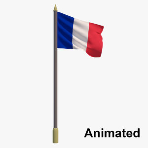 flag france - animation 3D
