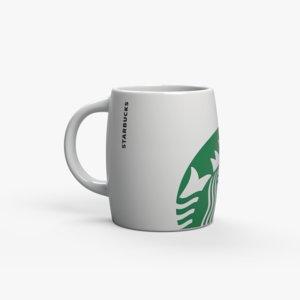 3D starbucks mug model