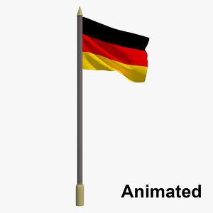 3D flag - animation