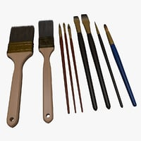 paint brush set 3D