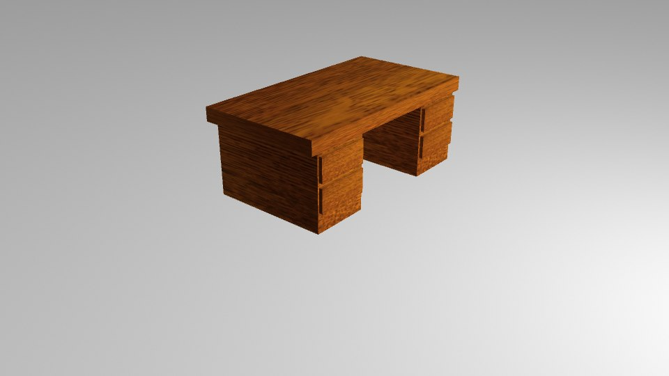 wooden desk wood 3D model