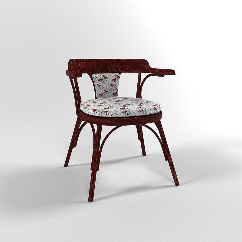 3D model wiena chair