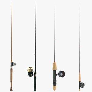 fishing pole 3D model