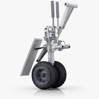 landing gear medium airplane 3D model
