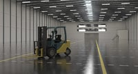 Warehouse Scene Empty With Forklift