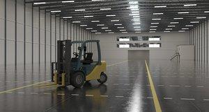 3D warehouse forklift model