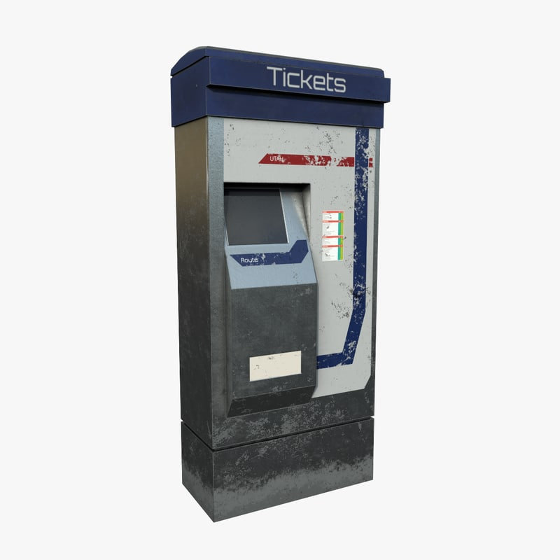 3D model ticket machine