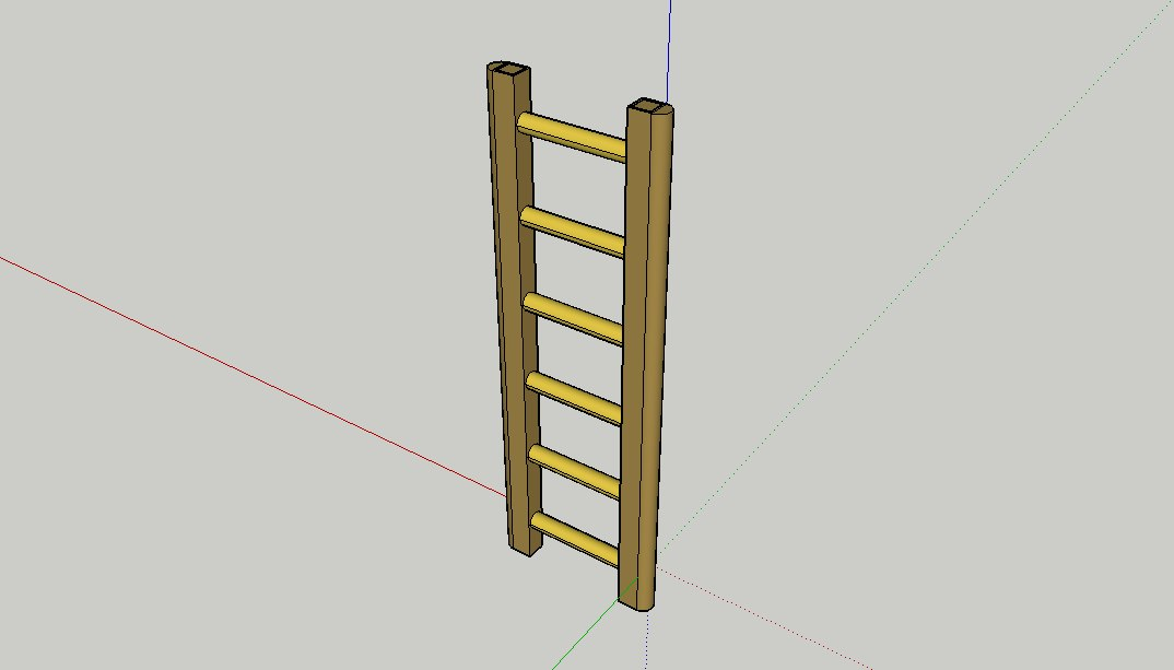 3D simple ladder model