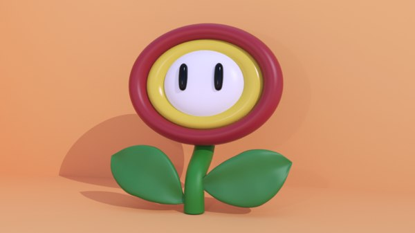 marios flower 3D model