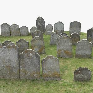 graveyard scene 3D