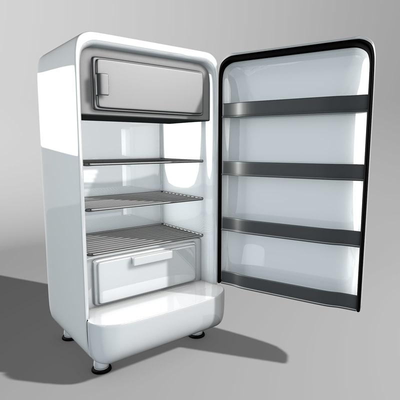 3D vintage refrigerator