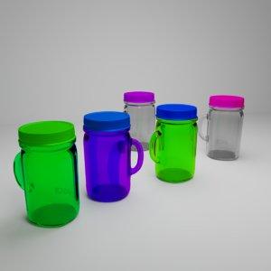 3D mason mugs model