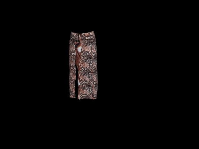 batik sarong 3D model