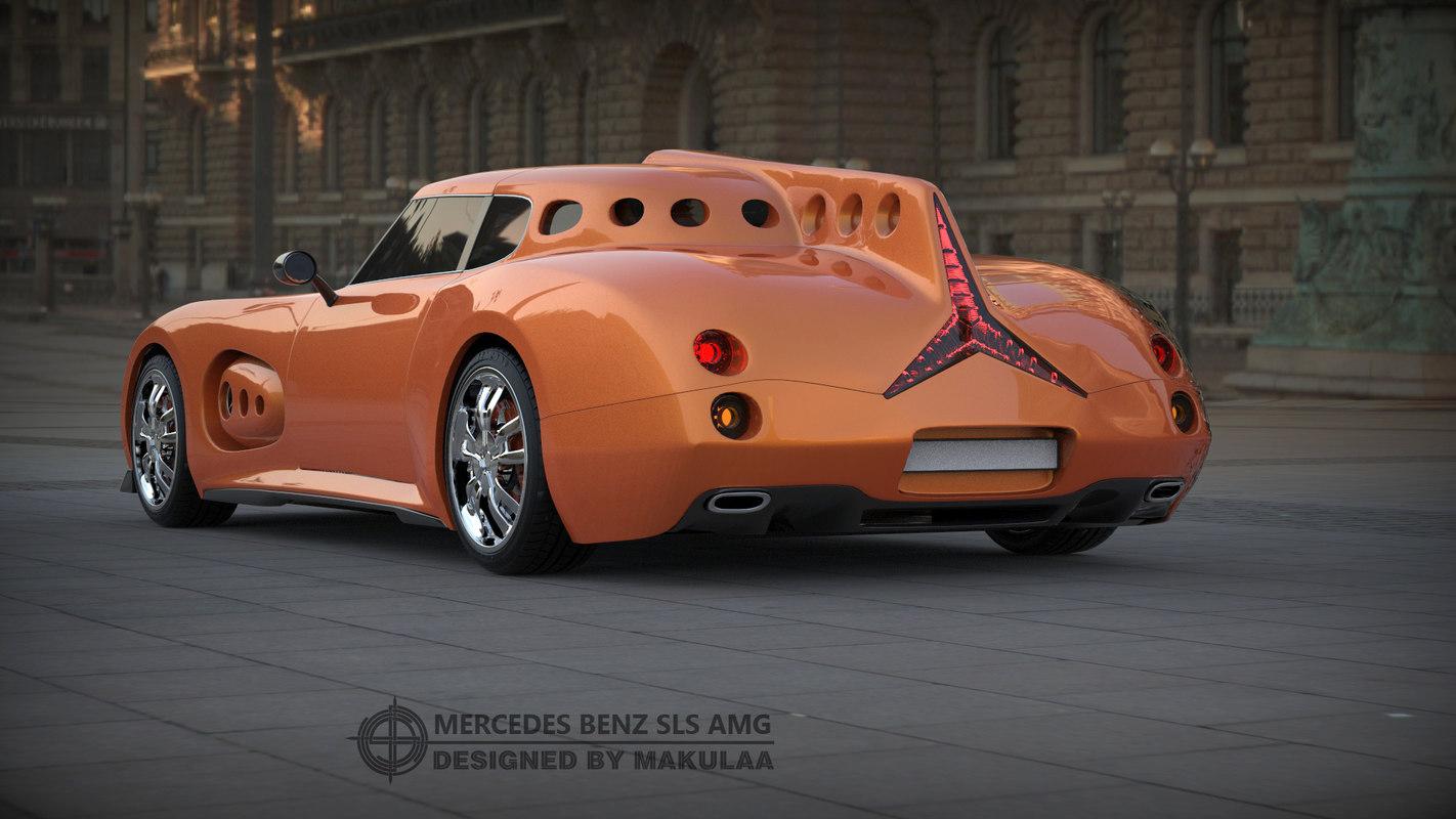 3D model mercedes concept