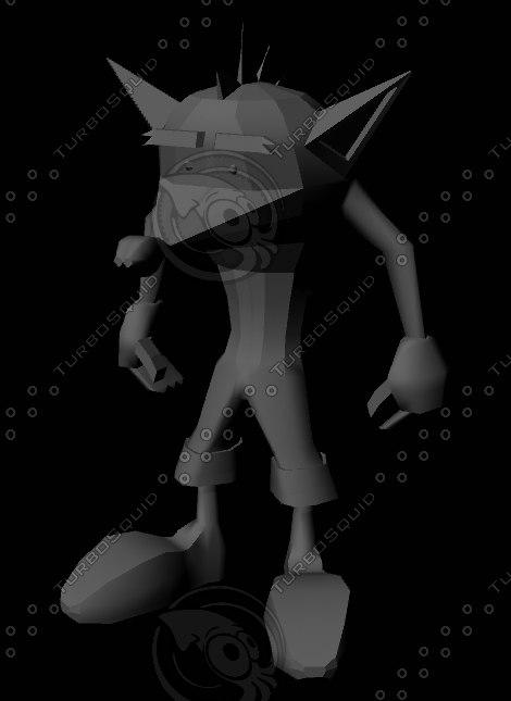 3D crash bandicoot model