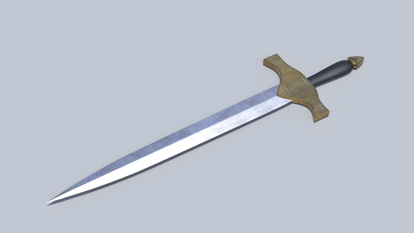 3D model medieval sword 2