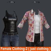 female 1 clothing 2 3D