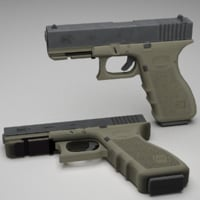 3D glock 17 9mm pistol