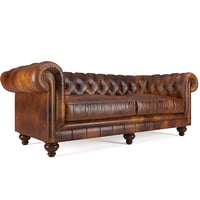 sofa chesterfield leather 3D
