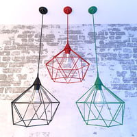 wire lamp lights 3D model