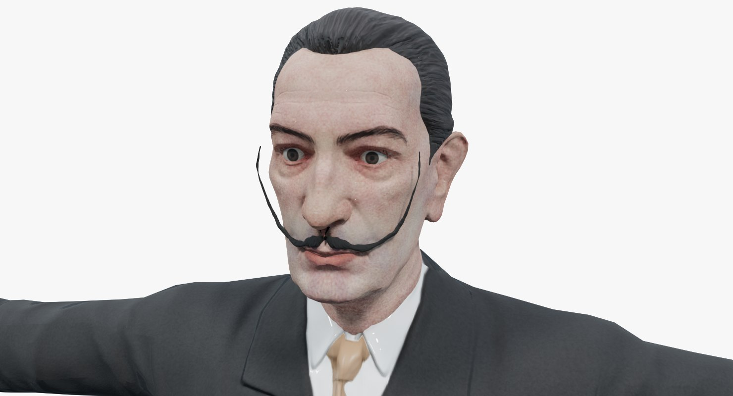3D salvador dal dali model
