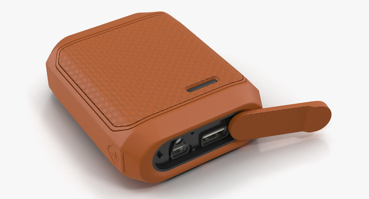 3D model rugged power bank battery