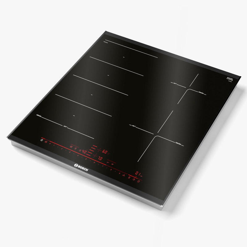 bosch induction hob 3D