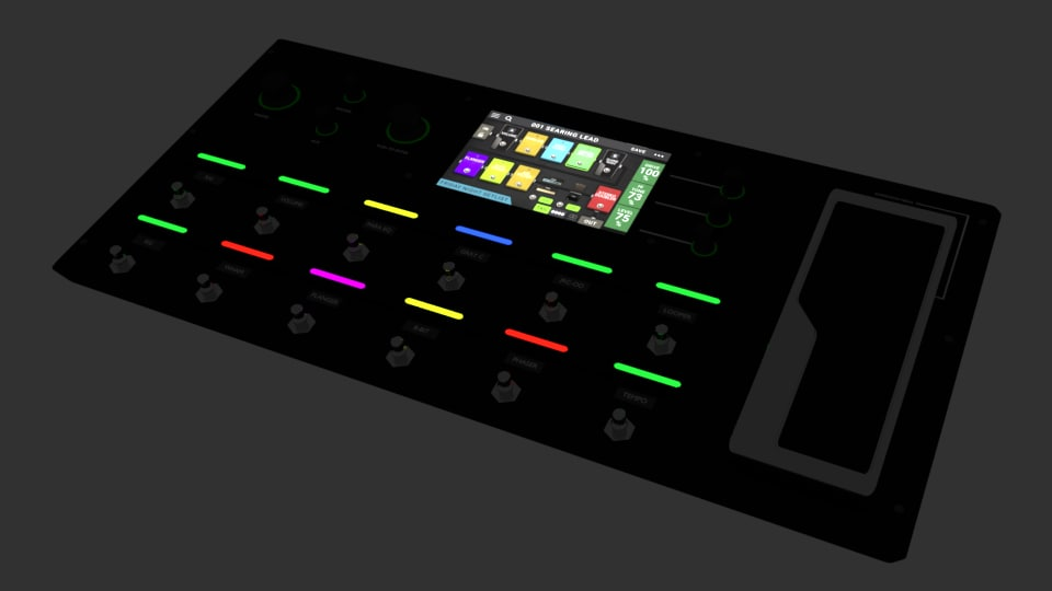 guitar pedalboard model