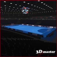 3D handball arena