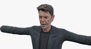 david bowie 3D model