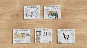 3D newspaper news paper