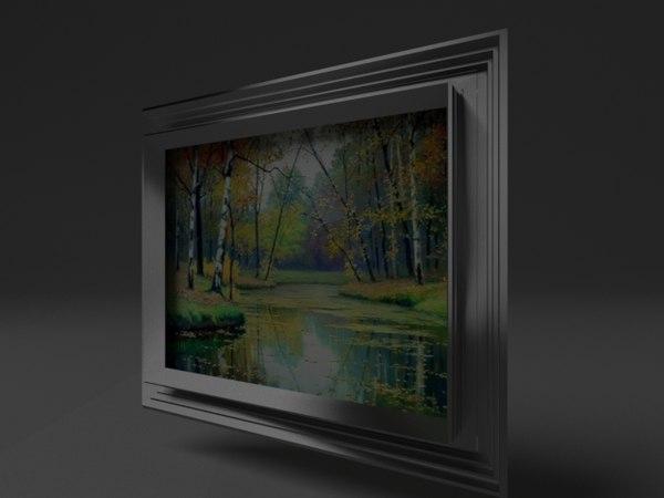 frame photography aluminum 3D model