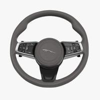 3D steering wheel model