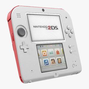 3D handheld console nintendo 2ds