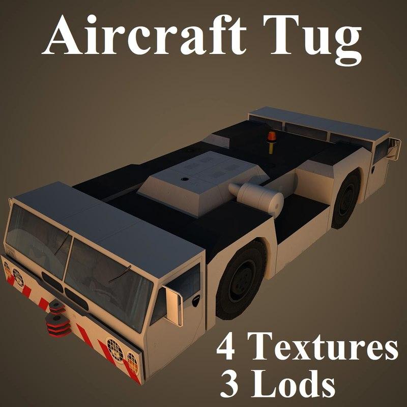 3D model aircraft tug airport