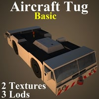 aircraft tug basic 3D model
