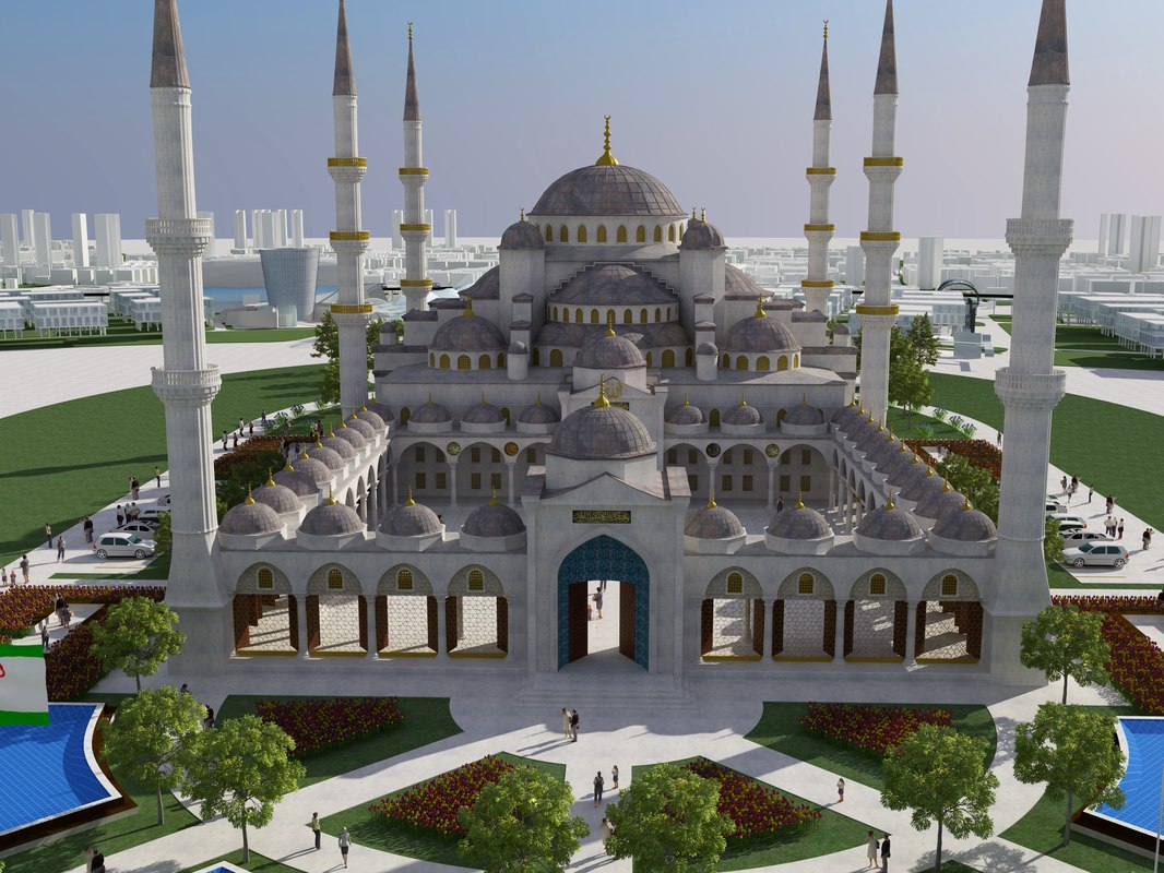 3D antalya mosque