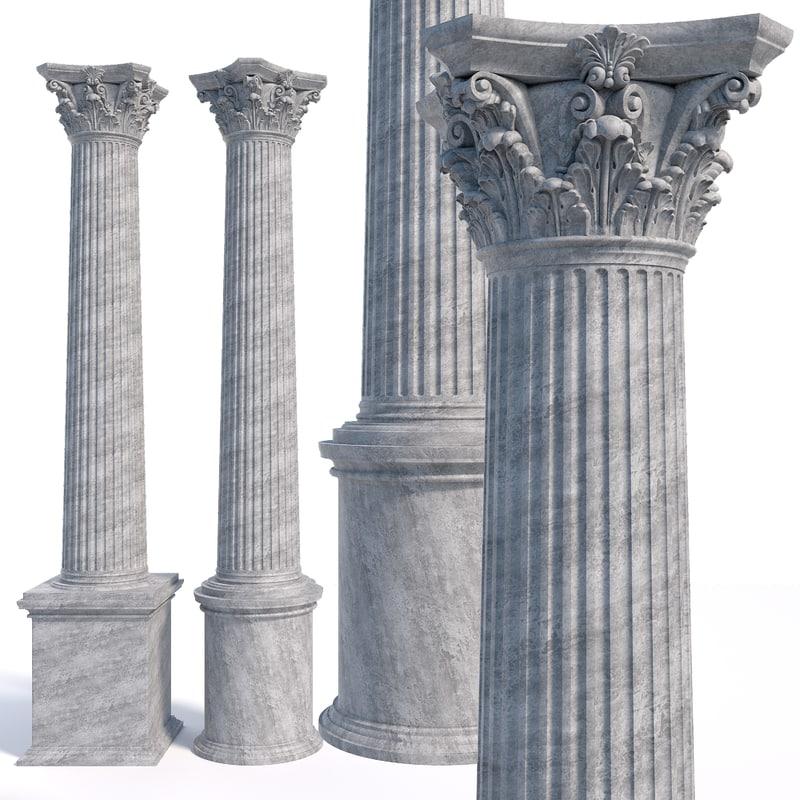 column capitel 3D model