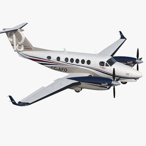 3D model civil utility aircraft beechcraft